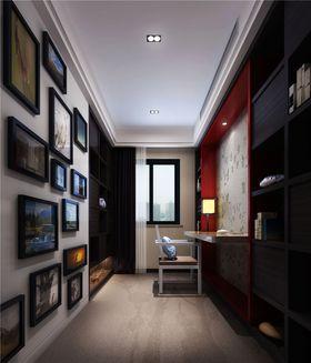 富裕型110平米三室两厅中式风格书房设计图