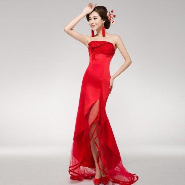 旗袍式的礼服应该如何选择
