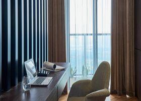10-15万90平米现代简约风格书房设计图