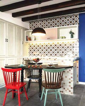 富裕型110平米三室两厅混搭风格餐厅装修效果图