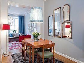 110平米三室一厅北欧风格餐厅装修图片大全