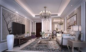 豪华型90平米三室两厅欧式风格客厅效果图