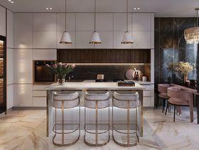 110平米三室兩廳現代簡約風格廚房裝修案例