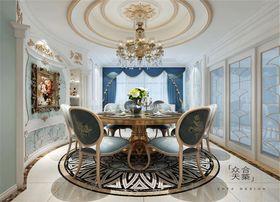 富裕型140平米三室两厅法式风格餐厅装修案例