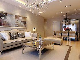 130平米三室两厅欧式风格客厅图