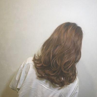 丽人美发图库中发效果图9925潮流染发创意烫发中发女长发图片