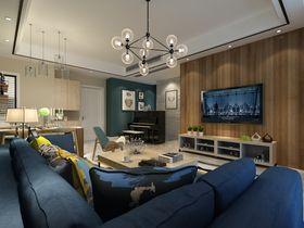 80平米北歐風格客廳沙發裝修效果圖