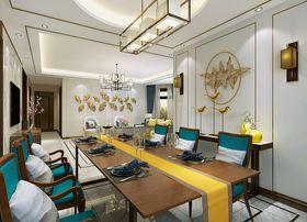 90平米三室一厅中式风格餐厅图片大全
