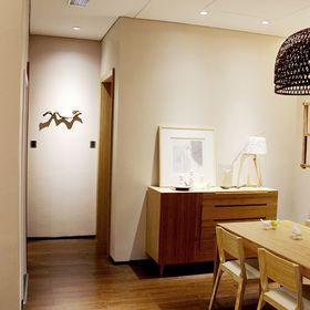 富裕型100平米中式风格走廊设计图