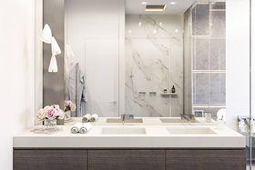 富裕型110平米复式现代简约风格卫生间设计图