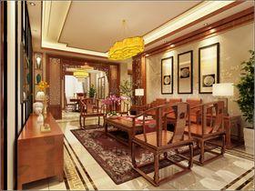 140平米三室一廳中式風格客廳家具圖片