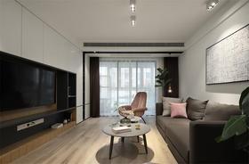 80平米三室两厅北欧风格客厅装修效果图