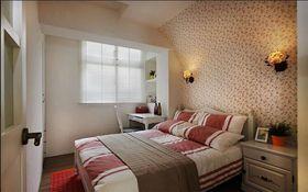 3万以下60平米三室一厅美式风格卧室欣赏图