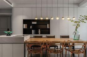 140平米三室一廳現代簡約風格餐廳裝修案例