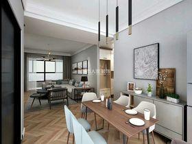 130平米三室兩廳現代簡約風格餐廳圖片