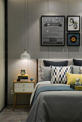 80平米三室一厅北欧风格卧室图片大全