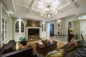 富裕型120平米四室两厅美式风格客厅欣赏图