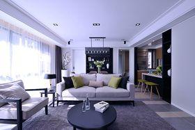 140平米四室两厅现代简约风格客厅沙发图片