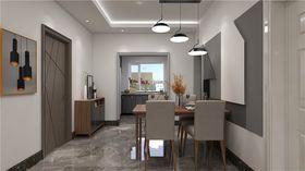 140平米三室兩廳現代簡約風格餐廳欣賞圖