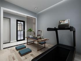 110平米三室两厅现代简约风格健身室图