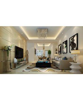 富裕型140平米三室两厅现代简约风格客厅欣赏图