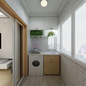 70平米现代简约风格阳台设计图