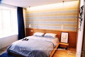 富裕型140平米三室两厅混搭风格卧室装修案例
