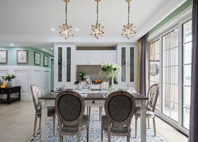 120平米三室兩廳美式風格餐廳設計圖