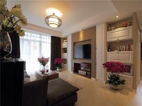 5-10万100平米现代简约风格客厅设计图