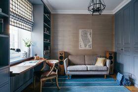 5-10万70平米公寓混搭风格书房欣赏图