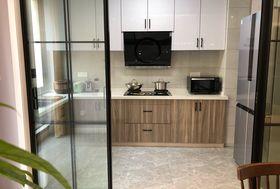 90平米三室一厅现代简约风格厨房图片大全