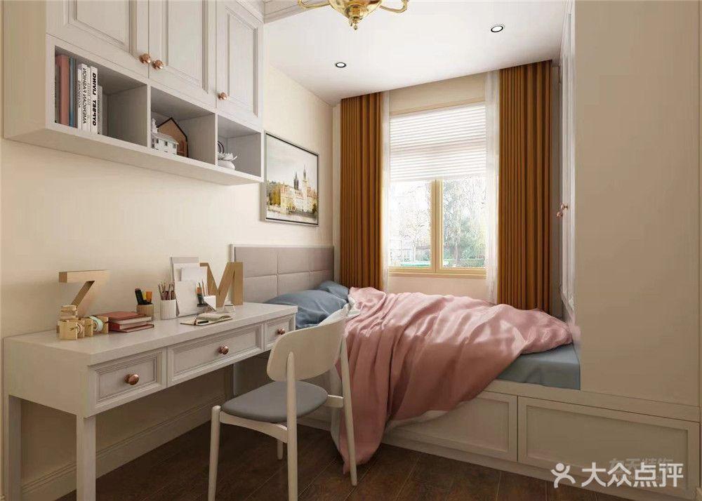 120平米三室一厅欧式风格卧室装修效果图
