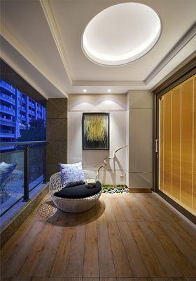 140平米三室三厅中式风格阳台图