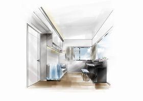 80平米三室两厅北欧风格其他区域效果图