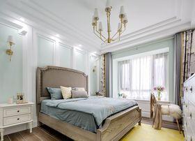 120平米三室兩廳美式風格臥室裝修圖片大全