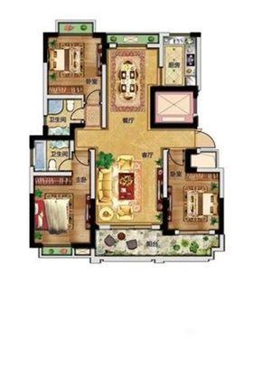 120平米三室两厅混搭风格其他区域欣赏图