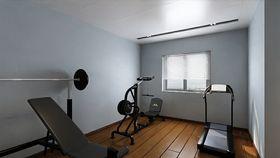 110平米一室一厅混搭风格健身室图