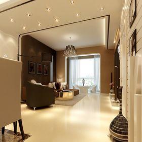 经济型100平米三室两厅现代简约风格走廊图