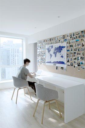 60平米北欧风格书房图片