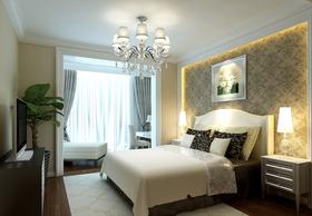 120平米三美式风格卧室设计图