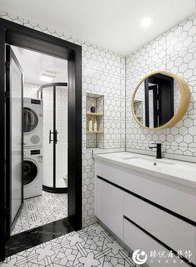 90平米三室一厅日式风格卫生间图片