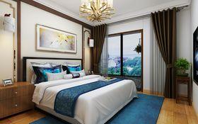 110平米三室两厅中式风格卧室装修案例