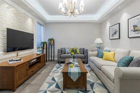 90平米美式风格客厅装修图片大全