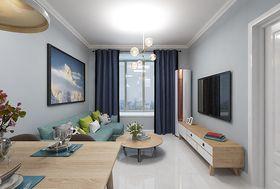90平米三室一厅现代简约风格客厅装修案例