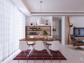 富裕型100平米三室一厅现代简约风格餐厅图
