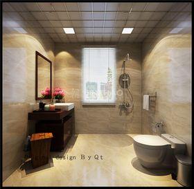 富裕型140平米三室两厅中式风格卫生间图片
