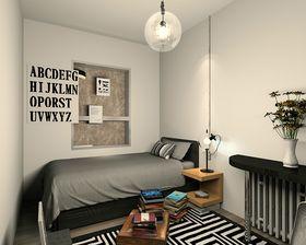 豪华型130平米四室两厅现代简约风格卧室设计图
