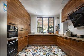 140平米三室两厅中式风格厨房欣赏图