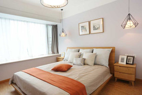 富裕型120平米三室一厅日式风格卧室图