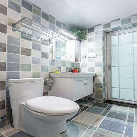 70平米三室两厅美式风格卫生间图片大全